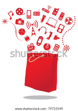electric shop - stock vector