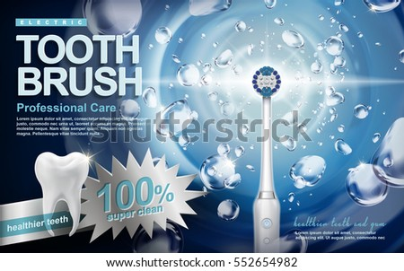 electric sonic toothbrush ad