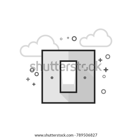 electric switch icon in flat