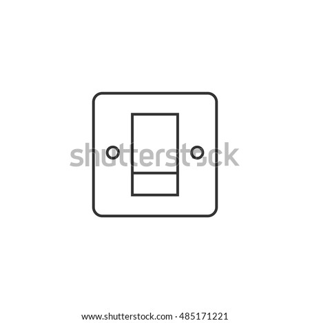 Electric switch icon in thin outline style.