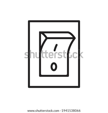 Electric switch outline icon vector. Power off linear style sign toggle switch off position for graphic design, logo, web site, social media, mobile app, ui