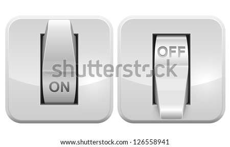 Electric switch web vector icon isolated on white background. Foto d'archivio ©
