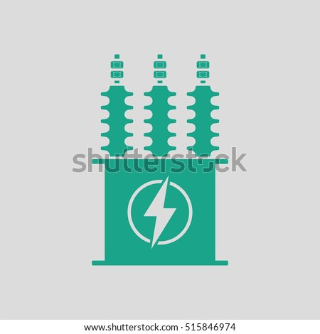 electric transformer icon gray