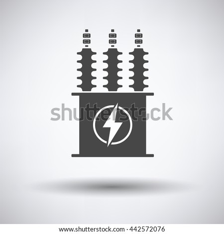 electric transformer icon on