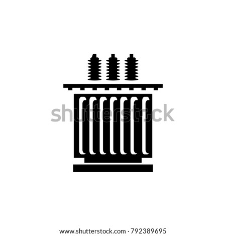 Electric transformer icon - vector illustration.