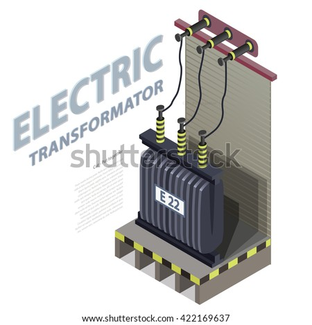 electric transformer isometric