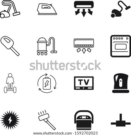 electric vector icon set such