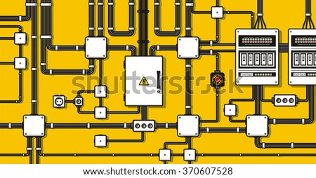 electric wiring background