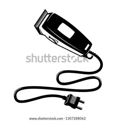 Electrical hair clipper or shaver  vintage style Vector.