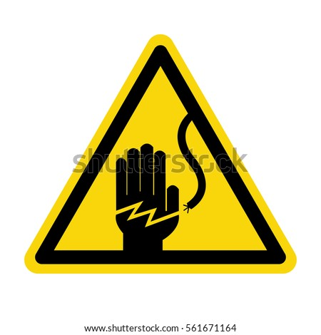Electrical hazard warning sign, vector, Illustration