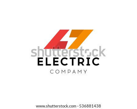 Electrical Logo Concept Lightning Bolt Minimal Simple Symbol Negative Space Style Flash Sign Design
