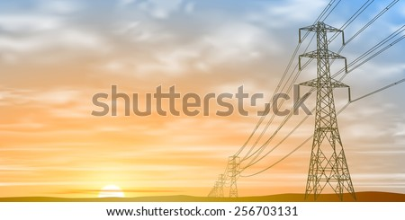 electrical power lines and