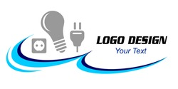 Electrician service graphic in vector quality.