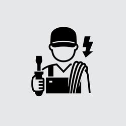 Electrician Technician Engineer Avatar Vector Icon