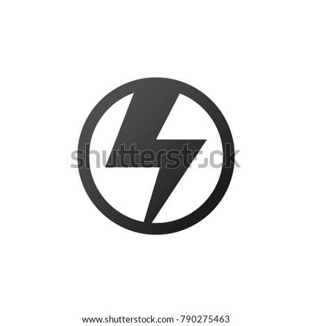 Electricity icon or logo vector design template