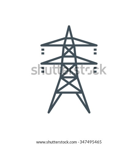 Electricity icon suitable for info graphics, websites and print media and  interfaces. Line vector icon.