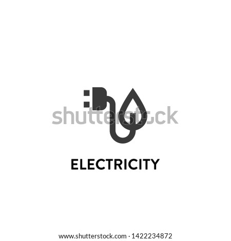 electricity icon vector. electricity vector graphic illustration
