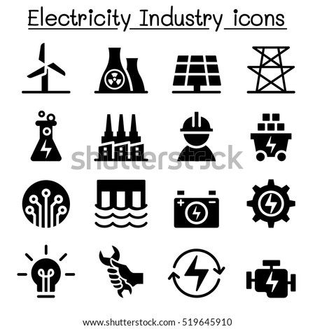 electricity industry icon
