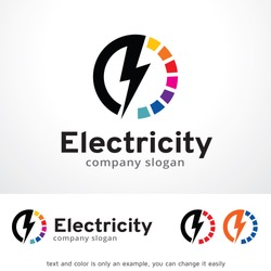 Electricity Logo Template Design Vector, Emblem, Design Concept, Creative Symbol, Icon