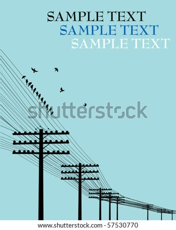 electricity poles background