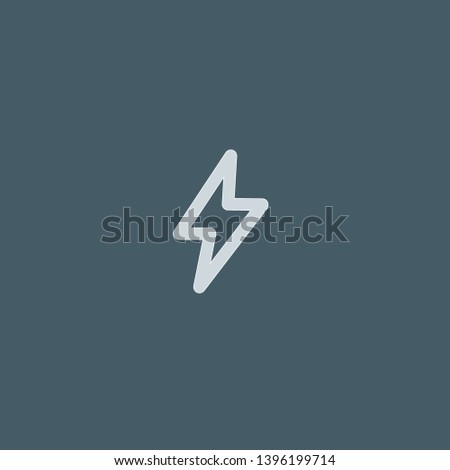 Electricity vector icon. Electricity concept stroke symbol design. Thin graphic elements vector illustration, outline pattern for your web site design, logo, UI. EPS 10.