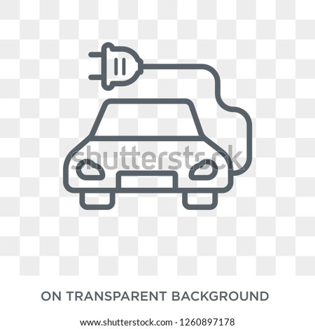 electro car icon. Trendy flat vector electro car icon on transparent background from general  collection. High quality filled electro car symbol use for web and mobile