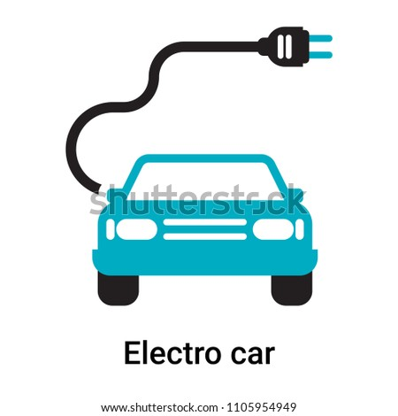 Electro car icon vector isolated on white background for your web and mobile app design, Electro car logo concept