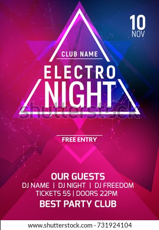 electro party music night