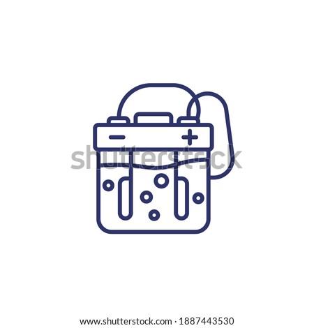 electrolysis line icon on white Foto stock ©