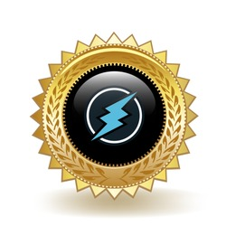 Electroneum Cryptocurrency Coin Gold Badge Medal Award