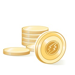 Electroneum Cryptocurrency Coin Gold Stacks