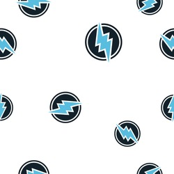 Electroneum Cryptocurrency Coin Sign Seamless Pattern