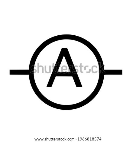 electronic ampere symbols for