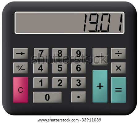 Electronic calculator. Vector illustration. Isolated on white background.