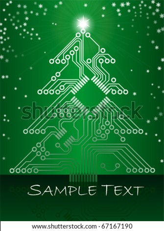 electronic circuit christmas