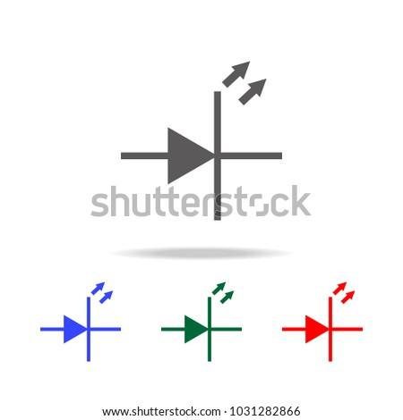 electronic circuit symbol icon