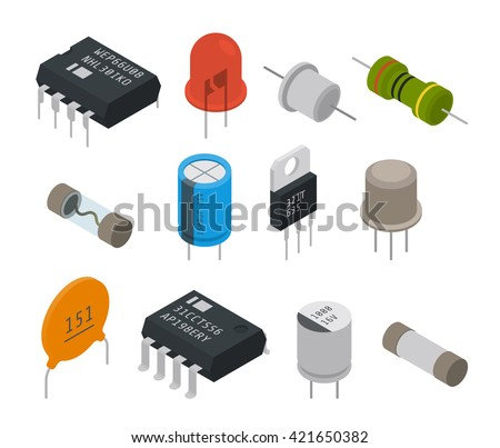 electronic components icons
