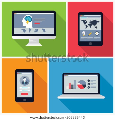 electronic device flat design...