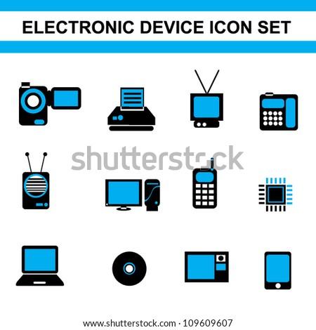 electronic device icon set