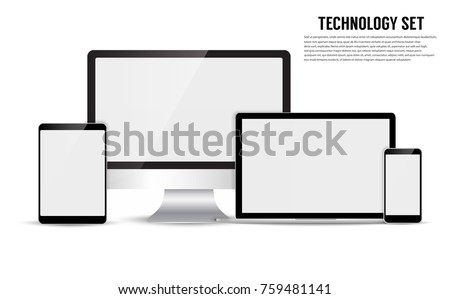 electronic device isolated on...