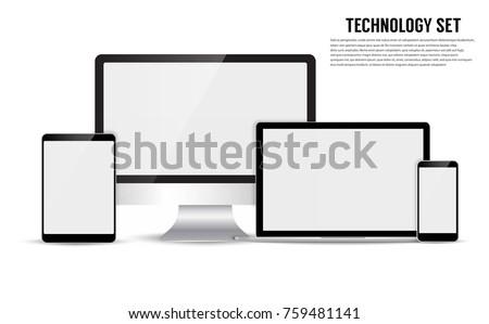 Electronic device isolated on white background. Vector illustration EPS10