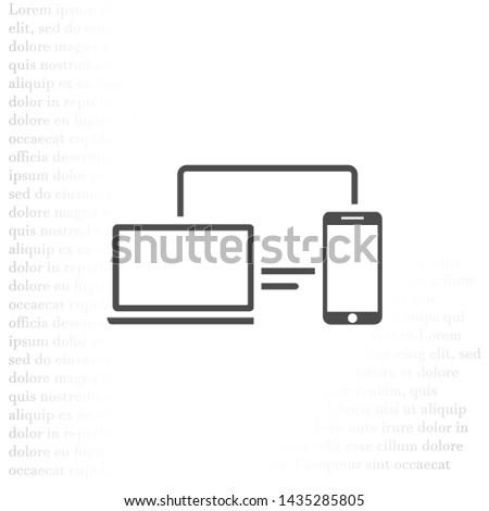 Electronic devices icon . Lorem Ipsum Illustration design