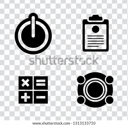 electronic devices illustration isolated. mobile technology - computer icons set - appliances.