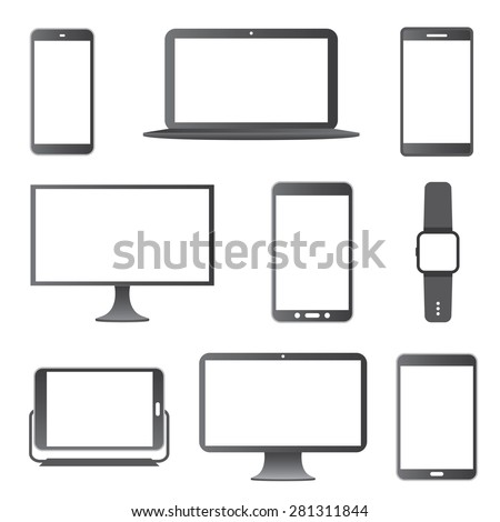 Electronic Devices Vector Set.