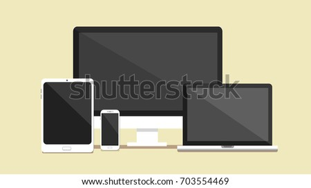 Electronic devices Vector set