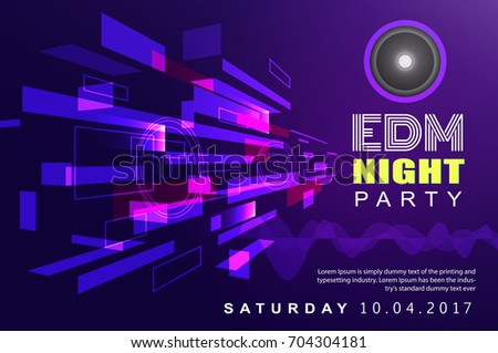 electronic dj music night party