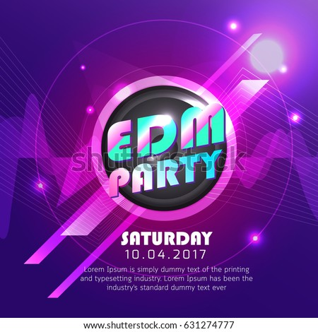 electronic dj music party