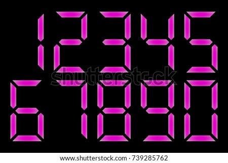 electronic figures purple dial