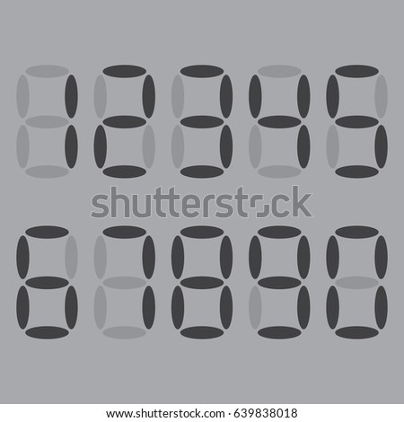 electronic gray numbers the