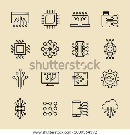 Electronic icon in trendy flat style isolated on background.  Symbol for your web site design, logo, app, UI. Vector illustration, EPS